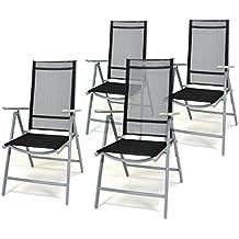 Gartenstühle alu schwarz  Suchergebnis auf Amazon.de für: gartenstühle alu