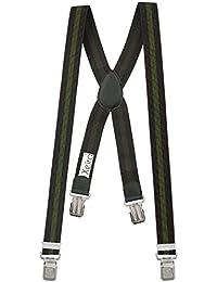Xeira Bretelles X-Design de haute qualité pour Femmes / Homme avec 4 Extra fort Eagle clips dans 15 Couleurs - avec 4 XL Eagle CLIP
