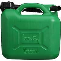 Silverline 847074 Plastic Fuel Can - 5 L, Green