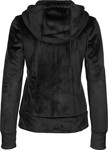 Bench Damen Strickjacke Core Fleece Zip Through Hoody Schwarz