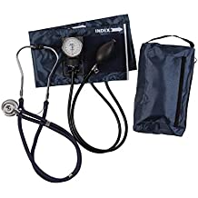 MABIS MatchMates Aneroid Sphygmomanometer and Sprague Rappaport Stethoscope Combination Manual Blood Pressure Kit with Calibrated Nylon