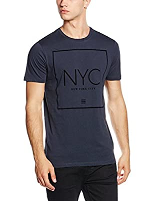 New Look Men's NYC Puff Short Sleeve T-Shirt