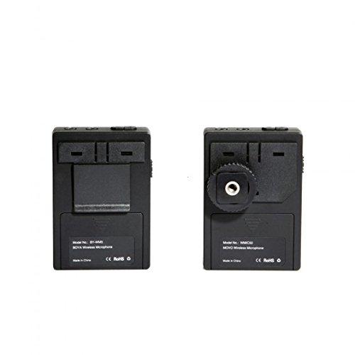 BOYA by de wm5Microphone Lavalier pour caméscope/enregistreur audio sans fil 2,4GHz Noir