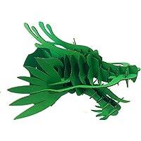 DIY Cartone Testa di Drago decorazione parete testa di animale supporto carta Maker Drago Green