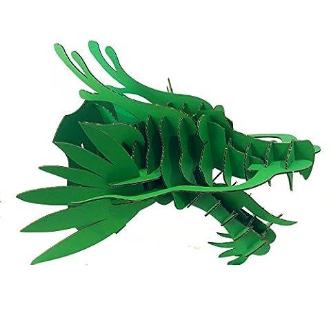 DIY Tête de dragon en carton Décoration murale tête animal Support mural par Papier Maker