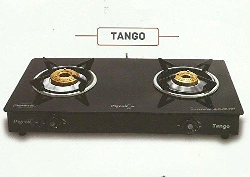 Pigeon by Stovekraft Tango Glass-Ceramic 2 Burner Gas Stove, Black
