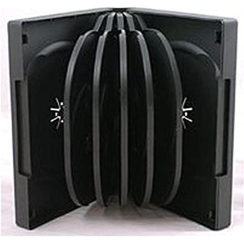 Four Square Media 1x CD DVD/BLU RAY 39mm de color negro DVD 12way funda para 12Disc–Pack de 1