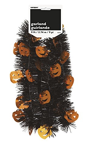 9ft Kürbis Halloween Lametta (Kürbis Halloween Für Aussparungen)