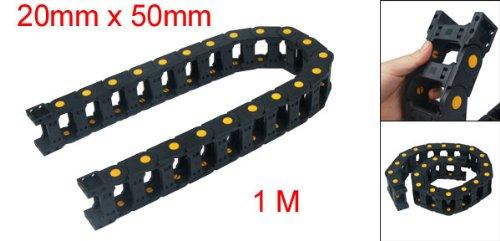 Ouverture sur le côté et 1 m de câble de frein de chaîne porte-câbles 20 mm x 50 mm