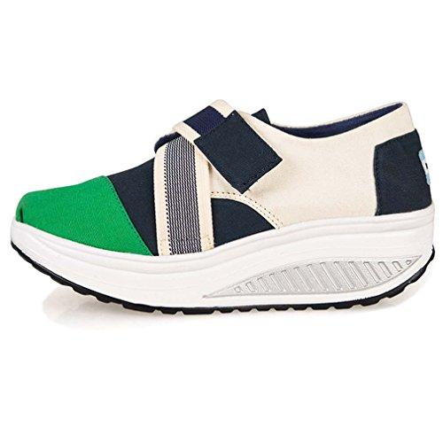 Solshine Sport Verde Di Di Sneakers Tempo Libero Scarpe Lo Della A Con Andamento Donna Heel Il Per Tela Stampa Cuneo rUrq1