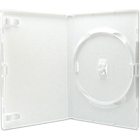 MasterStor Amaray genuino 14mm blanco solo DVD caso (paquete de 25,50) (paquete de 50)