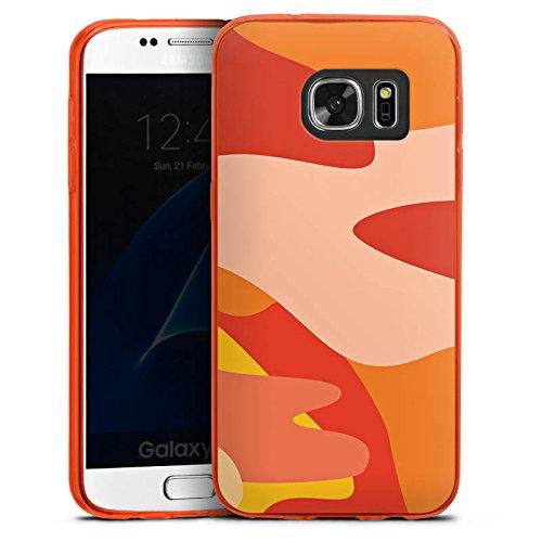 DeinDesign Slim Case kompatibel mit Samsung Galaxy S7 Silikon Hülle Ultra Dünn Schutzhülle Camouflage Bundeswehr Orange