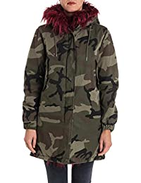 Canadian Mujer G217388WCAM Verde Algodon Abrigo