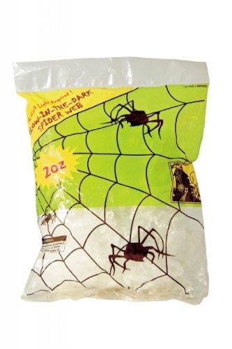Leuchtet Halloween Spinnennetz (57g Spinnengewebe nachtleuchtend)