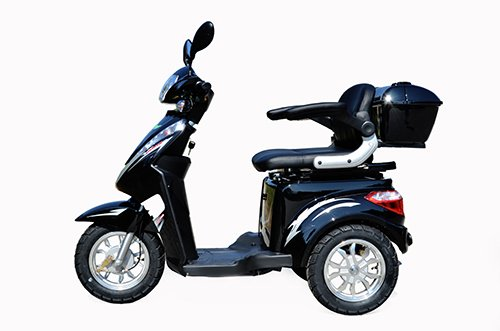 1000 W eScooter Elektromobil 3 Rad eScooter Elektrostuhl ECO Engel 501 (Schwarz)