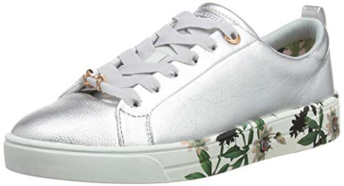 Ted Baker Damen Roully Sneaker, Silber Illusion Silver Il, 41 EU