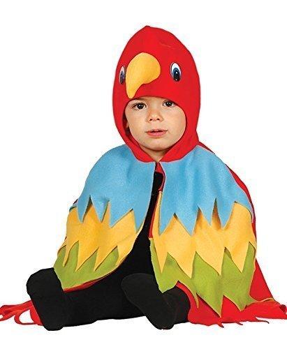 Vogel Dress Fancy Kostüm (Baby Jungen Mädchen Mehrfarbig Papagei Vogel Umhang Dschungel Fancy-Dress Kostüm Outfit 12-24)