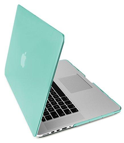 """MyGadget Hülle Hard Case [Matt] - für Apple MacBook Pro Retina 15"""" (2013-2016) Model A1398 - Schutzhülle Plastik Tasche Hartschalen Cover in Türkis"""