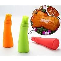 Botella de aceite de miel con pincel para hornear, panqueques, barbacoas, herramientas de