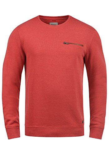 Blend Jesper Herren Sweatshirt Pullover Pulli Mit Rundhalsausschnitt Und Brusttasche, Größe:M, Farbe:Pomp Red (73832)