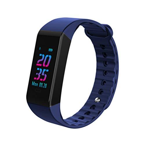 Flight Fitness Tracker Farb Touchscreen Aktivitätstracker Blutdrucküberwachung Fitness Armband Schlafmonitor Smart Uhr IP67 Wasserdicht Intelligentes Armband Geeignet Für Kinder Damen Herren,Blue