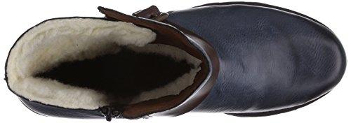 Rieker Z9870-14 Damen Halbschaft Stiefel Blau (ozean/havanna/brandy / 14)