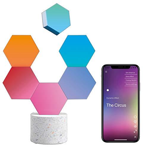 Cololight LED Modul System, 16 Mio Farben und Effekte, Wifi Smart Home Steuerung für Android und Apple (1x Stone Set Enhanced (1x Steinbase, 5x Extension))