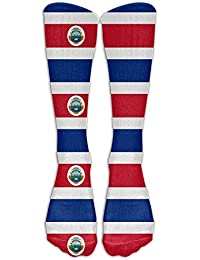 dongpujidiangongsi Socks Unisex Flag of Costa Rica Mens Sports Athletic Compression Football Soccer Socks Knee High