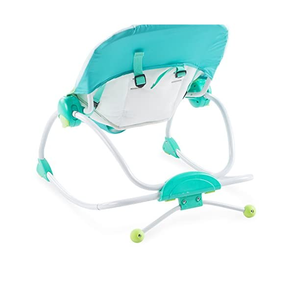 Bright Starts Playful Parade Baby to Big Kid Rocker Bright-Starts Seat can rock back and forth to soothe, or can be set to a fixed position for small babies and older toddlers Full body recline with 2 positions Soothing vibrations 10