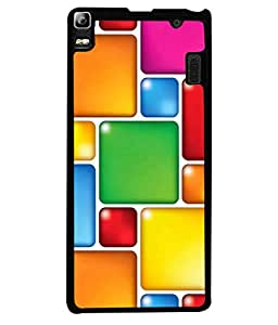 PrintVisa Designer Back Case Cover for Lenovo A7000 :: Lenovo A7000 Plus :: Lenovo K3 Note (Square Checks Colourful Boxes)