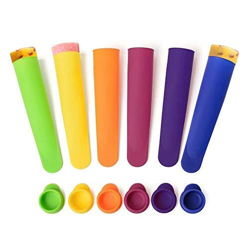 Silikon-Eiswürfelbereiter-Set (TM), Wiederverwendbare Silikonformen For Eiswürfel, BPA-frei Und Lebensmittelecht - Farblich Sortiert, 6er-Set Mit Deckel Passen Nach Hause