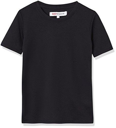 RED WAGON Jungen Superleichtes Sport T-Shirt, Schwarz (Black), 104 (Herstellergröße: 4 Jahre)