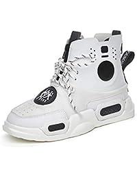 Zapatillas de hip hop Street Dance para mujer Zapatillas altas de cuero  2018 Otoño Nueva versión coreana de zapatos casuales de suela… 4ce13874c92