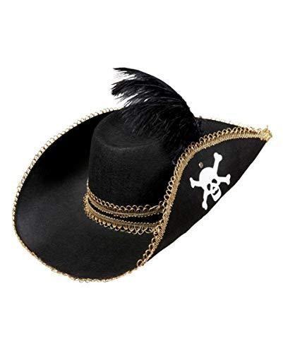 Horror-Shop Piratenhut mit Totenkopf und