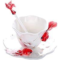 Creative Design pesce rosso in ceramica tazze/Romantico creative Present/strass Cina