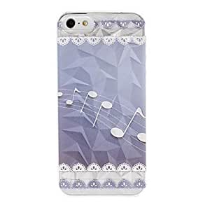 Note de musique et de motif de dentelle Effet Diamant Surface boîtier en plastique dur pour iPhone 5/5S