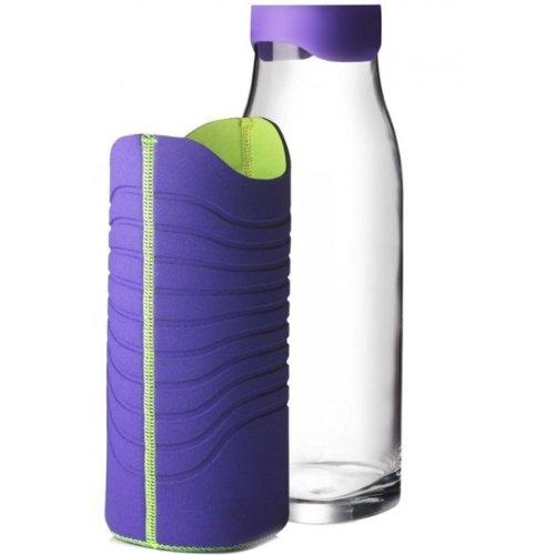 Menu 4667329 Karaffe mit Neoprenmantel, 1 Liter, lila/grün