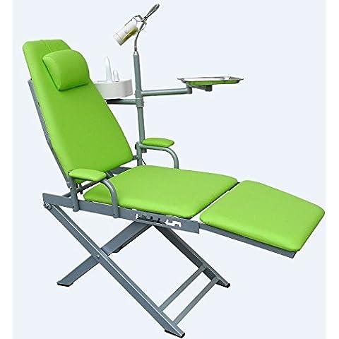 Dental Sedia pieghevole portatile chirurgico luce LED-Unità di scarico per lavabo con sistema di alimentazione idrica da