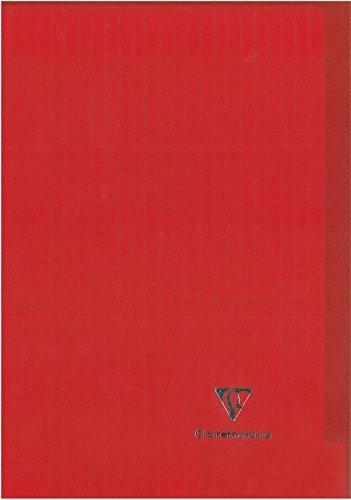 Clairefontaine Koverbook 971601C Cahier piqué 96 pages petits carreaux en couverture polypro 90 g A4 Couleur Aléatoire