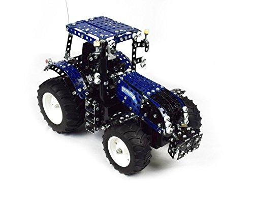 RC Auto kaufen Traktor Bild 5: Tronico 10057 - Metallbaukasten Traktor New Holland T8 mit Fernsteuerung, Profi Serie, Maßstab 1:16, 732-teilig, blau*