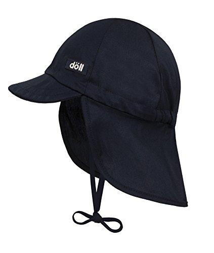 Döll Unisex Baby Bindemütze mit Nackenschutz Mütze, Blau (total Eclipse 3000), (Herstellergröße: 51) -