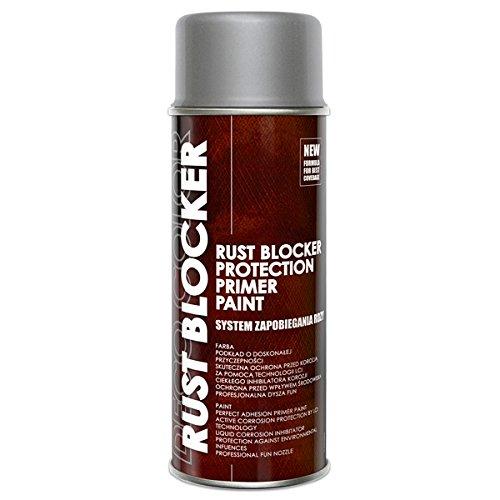 Preisvergleich Produktbild 1 Stück 400 ml Rust Blocker 4in1 Metallschutzlack Rost Stop Lack silber matt RAL 9006 18900