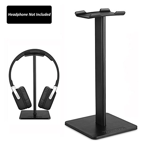 Headphone Stand New Bee Portable Headphone Holder Universal Aluminum Headphone Holder Earphone Display Hanger for Bose QuietComfort 25, QuietComfort 35, Gaming Headset Stand, Beats Solo 3, Beats Solo 2, Sony PlayStation Wireless Stereo Headset, Sennheiser Heaphones Over Ear, Philips, Skull Candy, Plantronics, KingTop EACH G2000 and More - Black