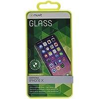 Muvit MUTPG0299 - Protector de pantalla en cristal templado de 0.33 mm para iPhone X