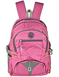 Friend Agencies Nylon 20 Liters Pink School Backpack (FA007)