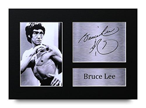 HWC Trading Bruce Lee signierter A4gedrucktem Autogramm Martial Arts Enter The Dragon Print Foto Bild Display–tolle Geschenkidee