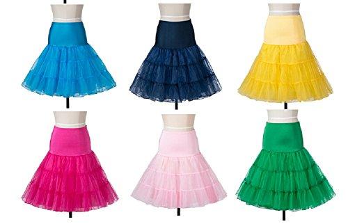 DealBang 50er Jahre Petticoat Reifrock Unterrock für Wedding Underskirt Retro Rockabilly Kleider Grau