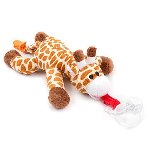 Chupete jirafa BabyHuggle - Chupeta peluche bebé