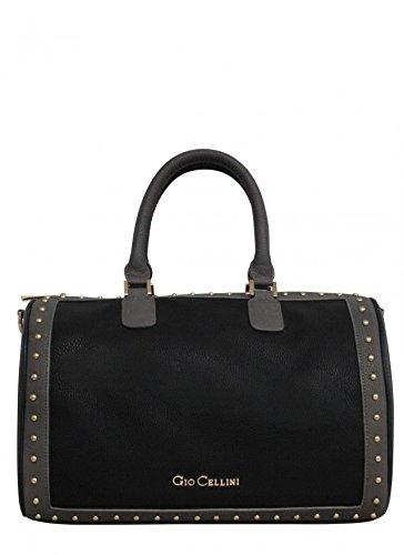 GIO CELLINI - Borsa donna bauletto con tracolla t173 nero