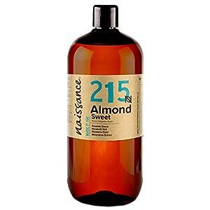 Naissance Aceite de Almendras Dulces n. º 215-1 Litro – 100% natural para humectar y equilibrar la piel, hidratar el…